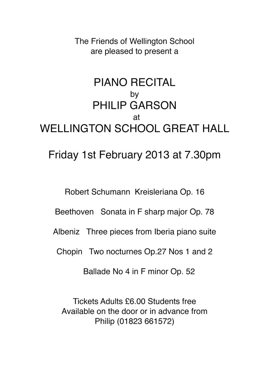 Philip Garson Piano Lessons